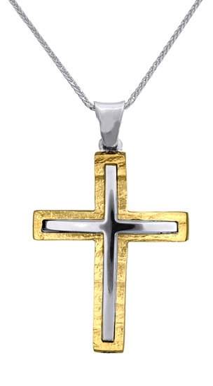 Βαπτιστικοί Σταυροί με Αλυσίδα ΒΑΠΤΙΣΤΙΚΟΙ ΣΤΑΥΡΟΙ ΑΓΟΡΙ c015975 015975C Ανδρικό σταυροί βάπτισης   γάμου βαπτιστικοί σταυροί με αλυσίδα