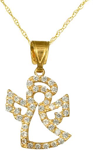 Κολιέ Με Αγγελάκι C016151 016151C Χρυσός 14 Καράτια