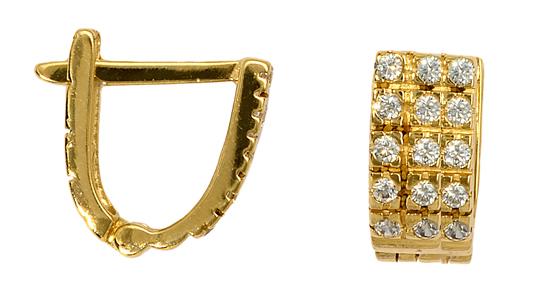 ΧΡΥΣΟΙ ΚΡΙΚΟΙ 016160 016160 Χρυσός 14 Καράτια χρυσά κοσμήματα σκουλαρίκια καρφωτά