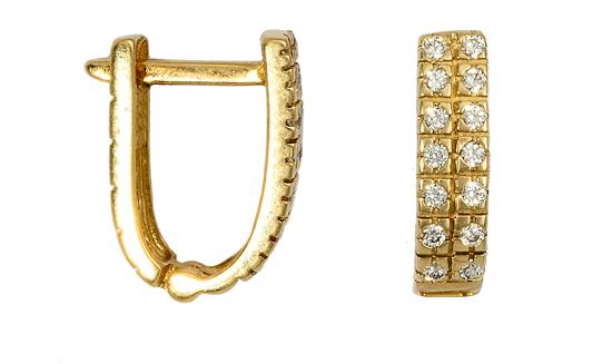 Κρίκοι Σκουλαρίκια 016162 016162 Χρυσός 14 Καράτια χρυσά κοσμήματα σκουλαρίκια καρφωτά