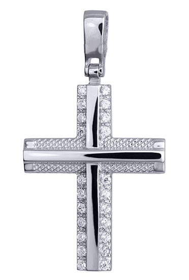 Σταυροί Βάπτισης - Αρραβώνα ΛΕΥΚΟΧΡΥΣΟΣ ΣΤΑΥΡΟΣ 016177 016177 Γυναικείο Χρυσός 14 Καράτια