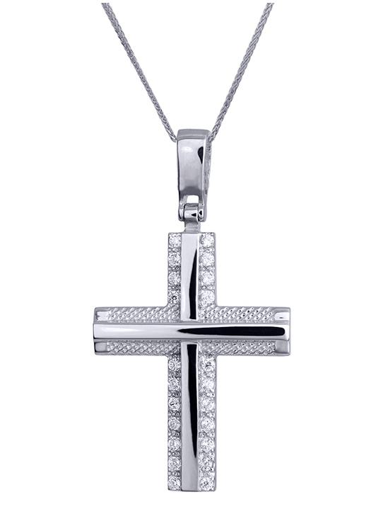 Βαπτιστικοί Σταυροί με Αλυσίδα ONLINE ΣΤΑΥΡΟΙ ΒΑΠΤΙΣΗΣ 016177C Γυναικείο Χρυσός 14 Καράτια