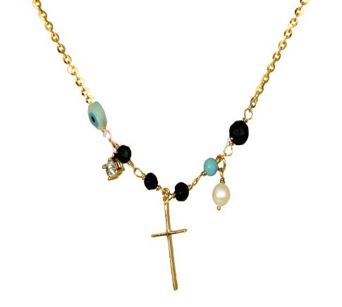 ΧΡΥΣΟ ΚΟΛΙΕ ΣΤΑΥΡΟΣ 016191 Χρυσός 14 Καράτια χρυσά κοσμήματα κολιέ