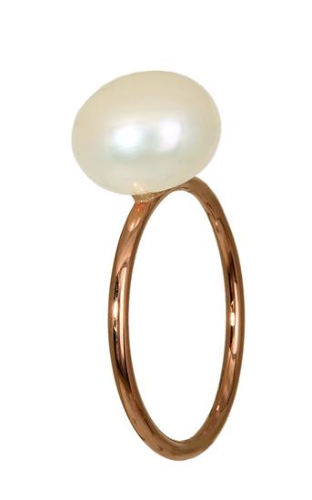 Ροζ Gold Δαχτυλίδι με Μαργαριτάρι 016200 016200 Χρυσός 14 Καράτια