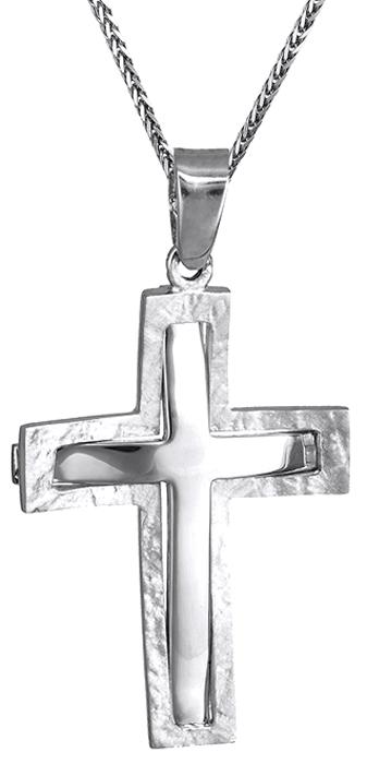 Βαπτιστικοί Σταυροί με Αλυσίδα Ανδρικός σταυρός Κ14 c016214 016214C Ανδρικό Χρυσός 14 Καράτια