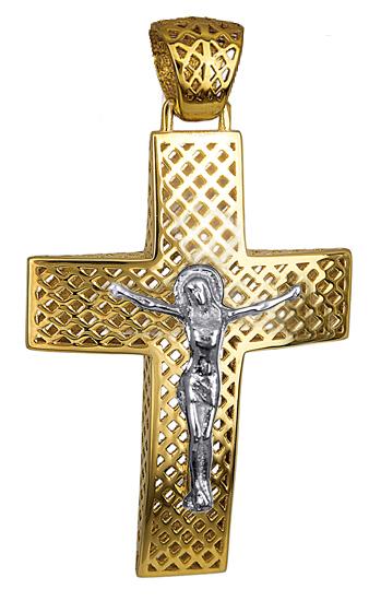Σταυροί Βάπτισης - Αρραβώνα Σταυρός χρυσός για βάπτιση 016265 016265 Ανδρικό Χρυσός 14 Καράτια