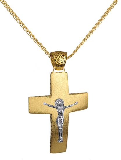 Βαπτιστικοί Σταυροί με Αλυσίδα ΧΡΥΣΟΙ ΣΤΑΥΡΟΙ ΠΡΟΣΦΟΡΑ C016266 016266C Ανδρικό Χρυσός 14 Καράτια