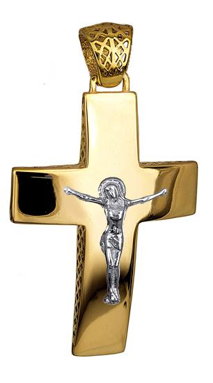 Σταυροί Βάπτισης - Αρραβώνα ΣΤΑΥΡΟΙ ΑΡΡΑΒΩΝΑ ONLINE 016267 016267 Ανδρικό Χρυσός 14 Καράτια