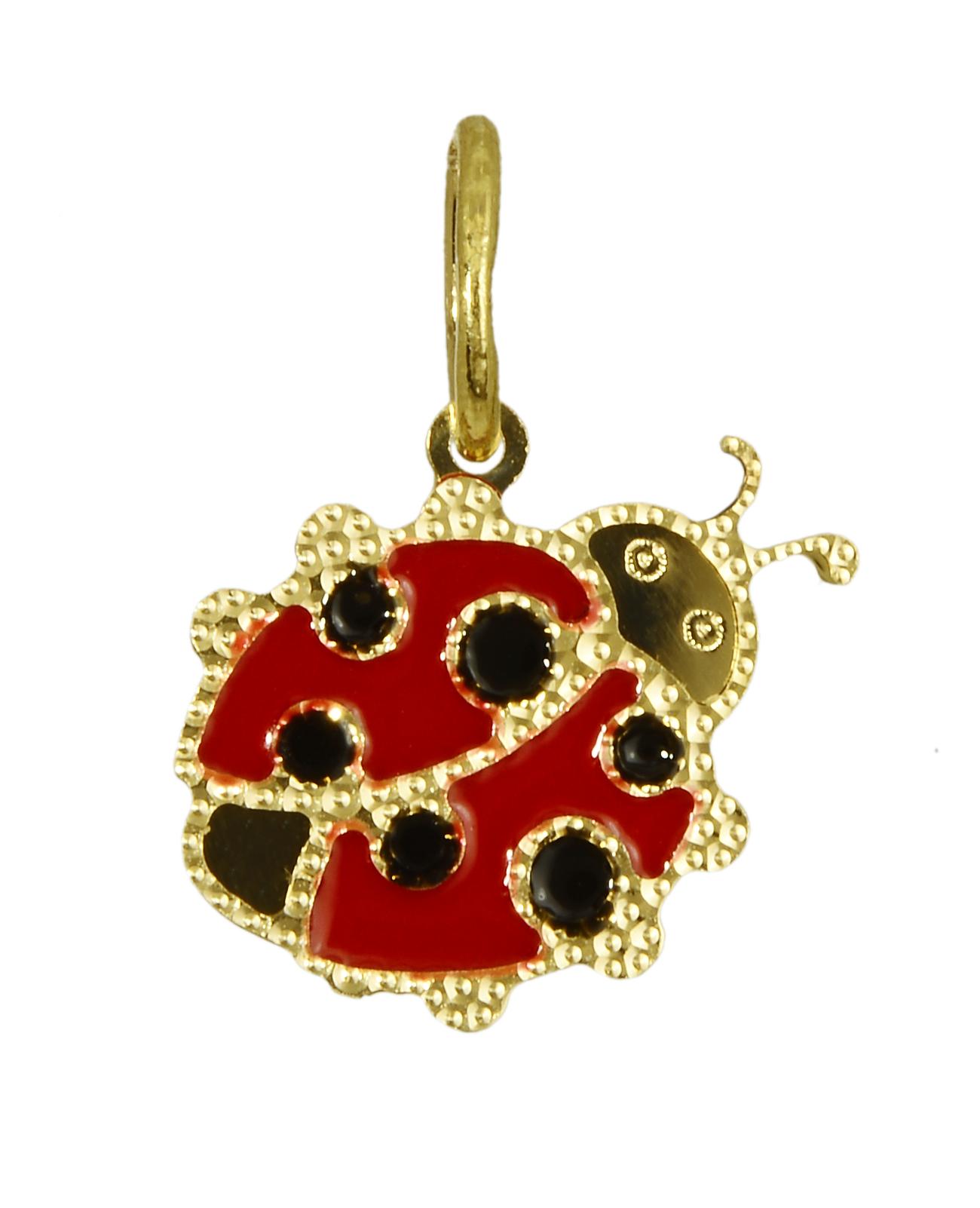 Παιδικό χρυσό κολιέ πασχαλίτσα 016335 Χρυσός 14 Καράτια παιδικά κοσμήματα κρεμαστά
