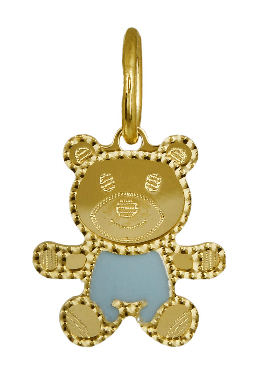 Χρυσό κρεμαστό κολιέ αρκούδι 016337 Χρυσός 14 Καράτια