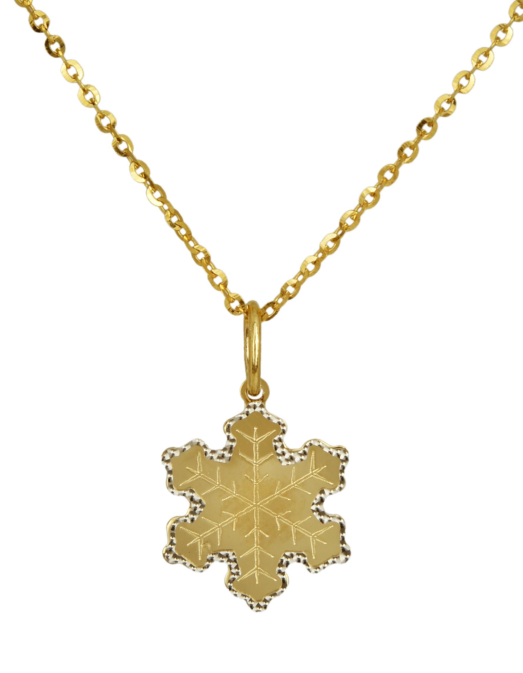 Κολιέ χρυσό νιφάδα 016338 Χρυσός 14 Καράτια