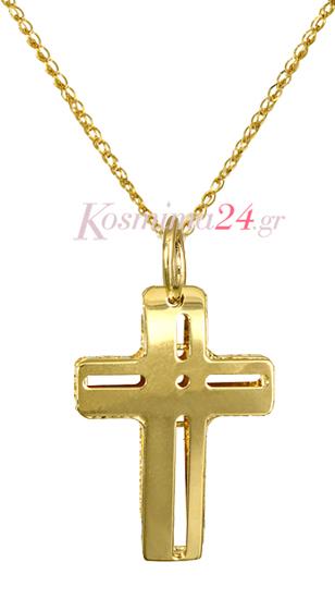 ΧΡΥΣΟΙ ΣΤΑΥΡΟΙ c016351 016351C Χρυσός 14 Καράτια χρυσά κοσμήματα σταυροί