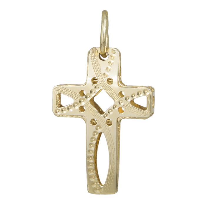 Γυναικείος άπετρος σταυρός Κ14 016356 016356 Χρυσός 14 Καράτια