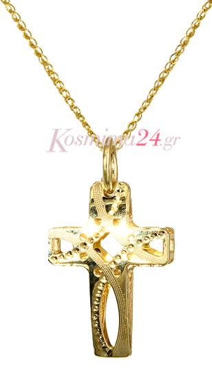 ΣΤΑΥΡΟΙ ONLINE c016356 016356C Χρυσός 14 Καράτια χρυσά κοσμήματα σταυροί