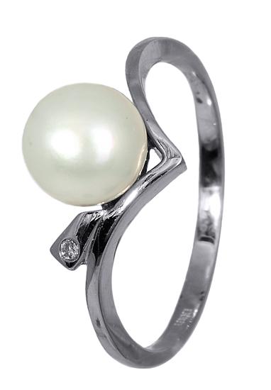 Δαχτυλίδι με Μαργαριτάρι και Μπριγιάν 016367 016367 Χρυσός 18 Καράτια