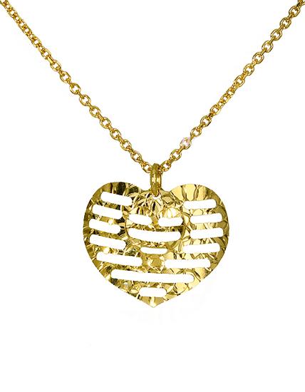 Κολιέ Καρδιά 016392 Χρυσός 14 Καράτια