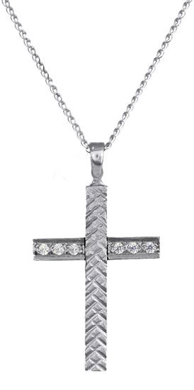 Βαπτιστικοί Σταυροί με Αλυσίδα ΣΤΑΥΡΟΙ ΓΥΝΑΙΚΕΙΟΙ C016424 016424C Γυναικείο Χρυσ σταυροί βάπτισης   γάμου βαπτιστικοί σταυροί με αλυσίδα