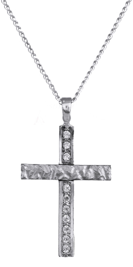 Λευκόχρυσος σταυρός C016430 016430C Χρυσός 14 Καράτια χρυσά κοσμήματα σταυροί