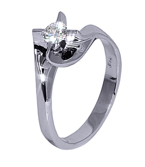 Mονόπετρα δαχτυλίδια με διαμάντια 016435 Χρυσός 18 Καράτια