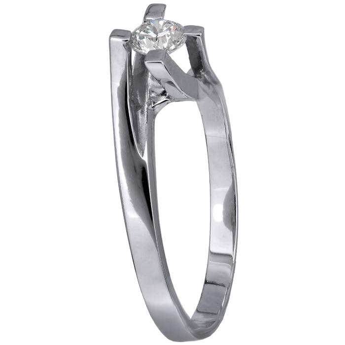 Μονόπετρο δαχτυλίδι με μπριγιάν Κ18 013435 013435 Χρυσός 18 Καράτια