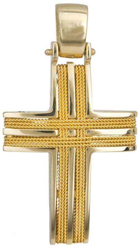 Σταυροί Βάπτισης - Αρραβώνα Σταυρός βάπτισης Κ14 016521 016521 Ανδρικό Χρυσός 14 Καράτια
