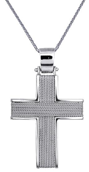 Βαπτιστικοί Σταυροί με Αλυσίδα Αντρικός σταυρός συρματερός C016525 016525C Ανδρικό Χρυσός 14 Καράτια