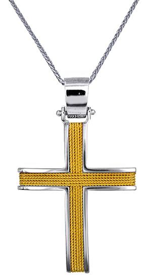 Βαπτιστικοί Σταυροί με Αλυσίδα ΚΟΣΜΗΜΑΤΑ ONLINE ΣΤΑΥΡΟΙ - ΒΑΠΤΙΣΤΙΚΑ C016529 016529C Ανδρικό Χρυσός 14 Καράτια