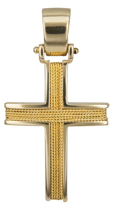 Σταυροί Βάπτισης - Αρραβώνα Χρυσός σταυρός βάπτισης Κ14 016530 016530 Ανδρικό Χρυσός 14 Καράτια