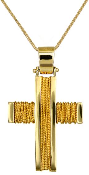 Βαπτιστικοί Σταυροί με Αλυσίδα ΒΑΠΤΙΣΤΙΚΑ ΠΑΚΕΤΑ - ΣΤΑΥΡΟΙ ΜΕ ΑΛΥΣΙΔΑ C016533 016533C Ανδρικό Χρυσός 14 Καράτια