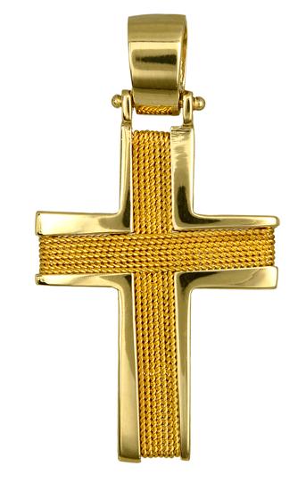 Σταυροί Βάπτισης - Αρραβώνα ΧΡΥΣΟΣ ΣΤΑΥΡΟΣ ΒΑΠΤΙΣΗΣ 016536 016536 Ανδρικό Χρυσός 14 Καράτια