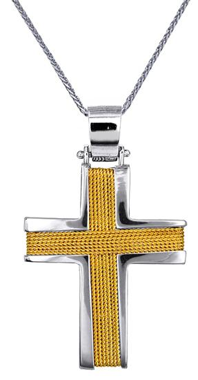 Βαπτιστικοί Σταυροί με Αλυσίδα ΑΝΔΡΙΚΟΙ ΣΤΑΥΡΟΙ ΣΧΕΔΙΑ C016538 016538C Ανδρικό Χ σταυροί βάπτισης   γάμου βαπτιστικοί σταυροί με αλυσίδα