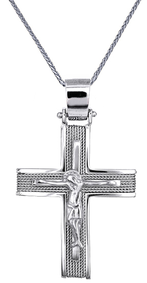 Βαπτιστικοί Σταυροί με Αλυσίδα ΣΤΑΥΡΟΙ - ΑΛΥΣΙΔΕΣ - ΚΟΣΜΗΜΑΤΑ ONLINE C016540 016 σταυροί βάπτισης   γάμου βαπτιστικοί σταυροί με αλυσίδα