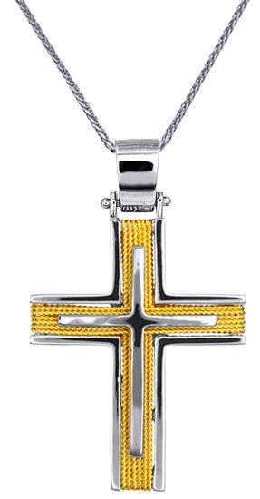 Βαπτιστικοί Σταυροί με Αλυσίδα Σταυροί Βάπτισης για Αγόρι C016547 016547C Ανδρικό Χρυσός 14 Καράτια