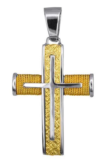 Σταυροί Βάπτισης - Αρραβώνα Είδη Βάπτισης - Σταυροί για Αγόρι 016553 016553 Ανδρικό Χρυσός 14 Καράτια