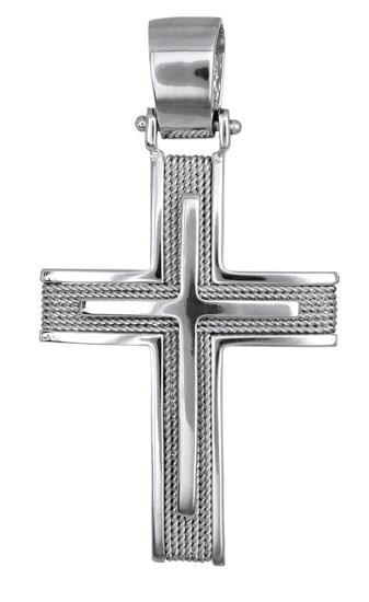 Σταυροί Βάπτισης - Αρραβώνα Λευκόχρυσοι Σταυροι Βάπτισης - Αρραβώνα 016559 016559 Ανδρικό Χρυσός 14 Καράτια