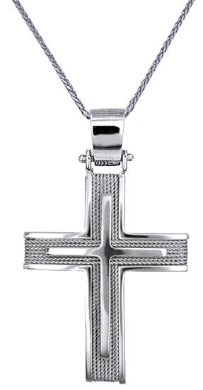 Βαπτιστικοί Σταυροί με Αλυσίδα ΟΙΚΟΝΟΜΙΚΗ ΒΑΠΤΙΣΗΣ 016559C Ανδρικό Χρυσός 14 Καράτια