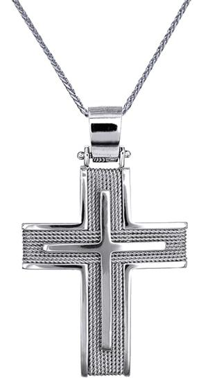 Βαπτιστικοί Σταυροί με Αλυσίδα ΕΙΔΗ ΒΑΠΤΙΣΗΣ - ΣΤΑΥΡΟΙ -ΚΟΣΜΗΜΑΤΑ ONLINE C016565 σταυροί βάπτισης   γάμου βαπτιστικοί σταυροί με αλυσίδα