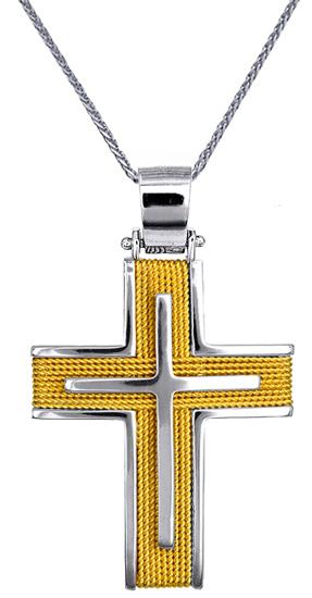 Βαπτιστικοί Σταυροί με Αλυσίδα Χρυσοί Σταυροί Ανδρικοί C016566 016566C Ανδρικό Χ σταυροί βάπτισης   γάμου βαπτιστικοί σταυροί με αλυσίδα