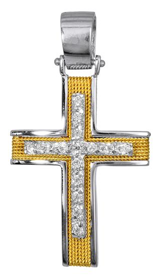 Σταυροί Βάπτισης - Αρραβώνα Γυναικείοι Σταυροί με Πέτρες Ζιργκόν 016569 016569 Γυναικείο Χρυσός 14 Καράτια