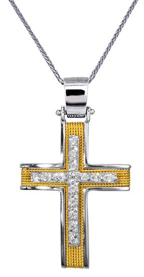 Βαπτιστικοί Σταυροί με Αλυσίδα Γυναικείοι Σταυροί C016569 016569C Γυναικείο Χρυσ σταυροί βάπτισης   γάμου βαπτιστικοί σταυροί με αλυσίδα