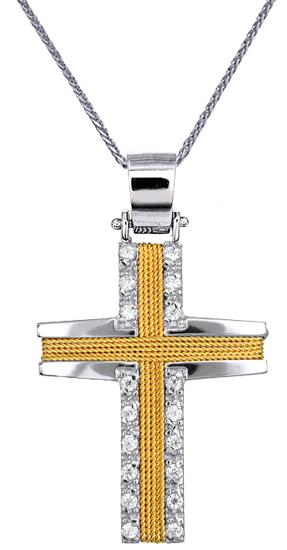 Βαπτιστικοί Σταυροί με Αλυσίδα ΣΤΑΥΡΟΙ C016572 016572C Γυναικείο Χρυσός 14 Καράτια