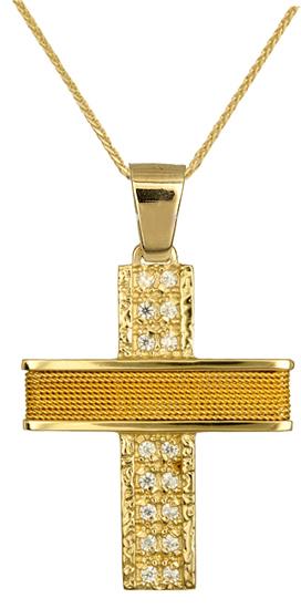 Βαπτιστικοί Σταυροί με Αλυσίδα ΓΥΝΑΙΚΕΙΟΙ ΣΤΑΥΡΟΙ C016576 016576C Γυναικείο Χρυσ σταυροί βάπτισης   γάμου βαπτιστικοί σταυροί με αλυσίδα