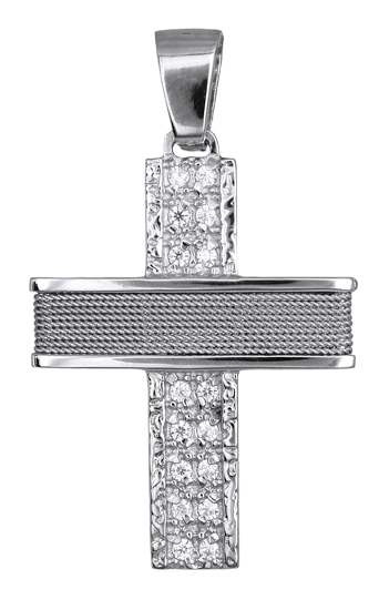 Σταυροί Βάπτισης - Αρραβώνα ΛΕΥΚΟΧΡΥΣΟΙ ΣΤΑΥΡΟΙ 016577 016577 Γυναικείο Χρυσός 14 Καράτια