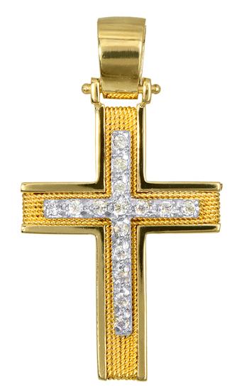 Σταυροί Βάπτισης - Αρραβώνα ΧΡΥΣΟΙ ΣΤΑΥΡΟΙ ΧΕΙΡΟΠΟΙΗΤΟΙ 016588 016588 Γυναικείο Χρυσός 14 Καράτια
