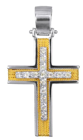 Σταυροί Βάπτισης - Αρραβώνα Γυναικείοι Σταυροί 016590 016590 Γυναικείο Χρυσός 14 Καράτια