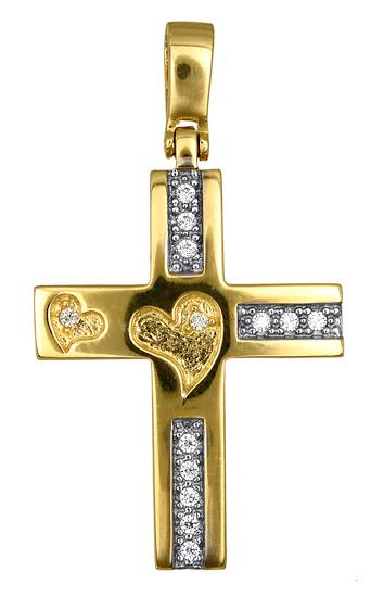 Σταυροί Βάπτισης - Αρραβώνα ΣΤΑΥΡΟΣ ΒΑΠΤΙΣΗΣ ΓΙΑ ΚΟΡΙΤΣΙ 016603 016603 Γυναικείο Χρυσός 14 Καράτια