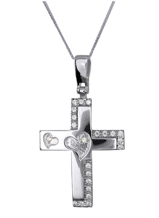 Βαπτιστικοί Σταυροί με Αλυσίδα ΒΑΠΤΙΣΤΙΚΑ ΣΕΤ ONLINE ΠΡΟΣΦΟΡΕΣ C016607 016607C Γ σταυροί βάπτισης   γάμου βαπτιστικοί σταυροί με αλυσίδα