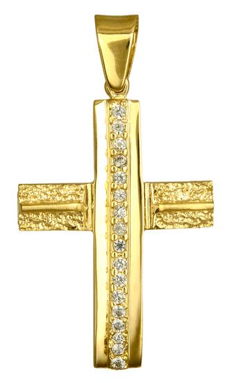 Σταυροί Βάπτισης - Αρραβώνα Σταυροί Χρυσοί Γυναικείοι 016615 016615 Γυναικείο Χρυσός 9 Καράτια
