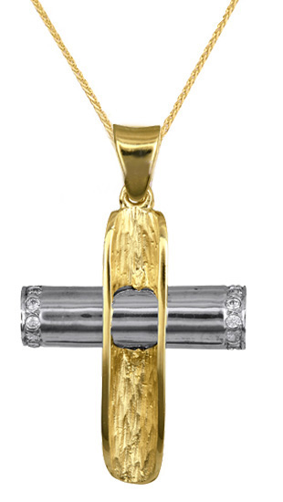 Βαπτιστικοί Σταυροί με Αλυσίδα ΒΑΠΤΙΣΤΙΚΑ ΤΙΜΕΣ ΣΤΗΝ ΘΕΣΣΑΛΟΝΙΚΗ C016623 016623C Γυναικείο Χρυσός 9 Καράτια