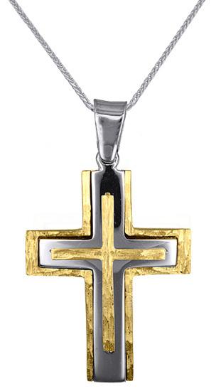 Βαπτιστικοί Σταυροί με Αλυσίδα ΧΡΥΣΟΙ ΑΝΔΡΙΚΟΙ ΣΤΑΥΡΟΙ 016626C Ανδρικό Χρυσός 14 Καράτια